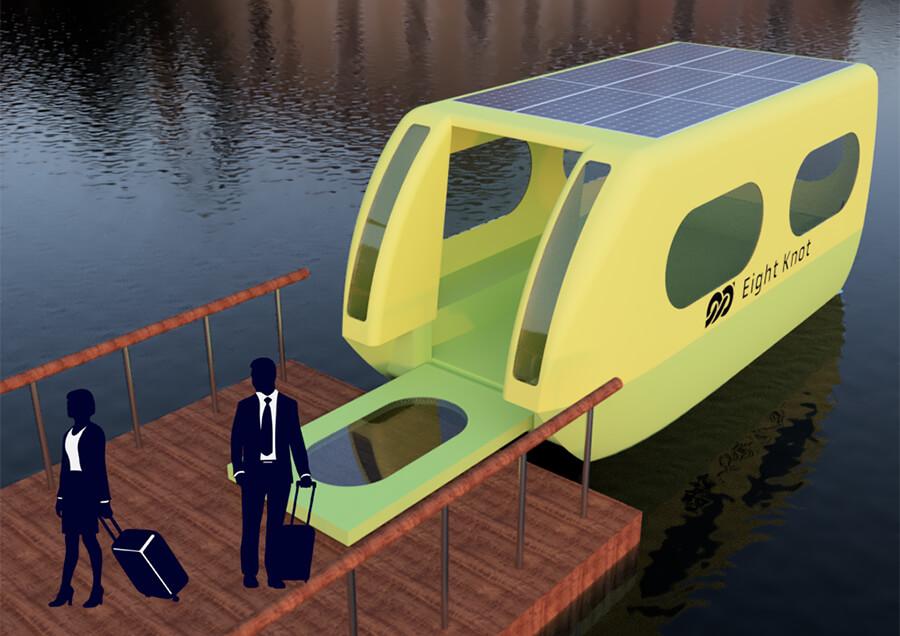 自律航行小型EV船によるオンデマンド型水上交通