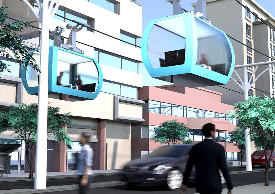 新たな都市交通インフラ、曲がれるロープウェイZippar